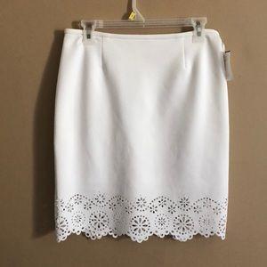 Calvin Klein Floral Cutout Skirt